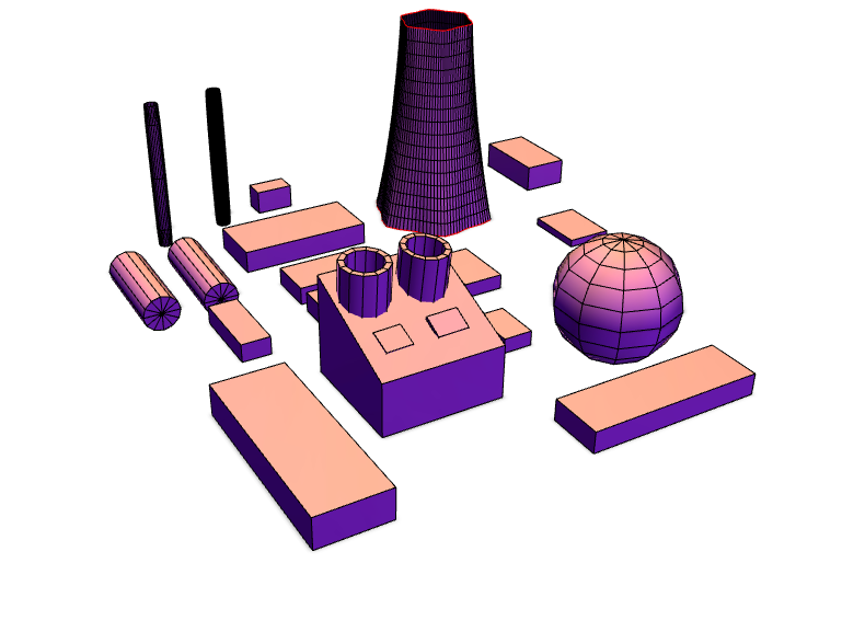 Nuclear Plant - 3D design by jwbrown451 on May 22, 2018