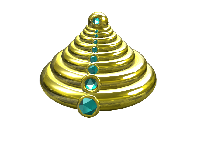 Ring tower - 3D design by birksamset on Apr 7, 2018
