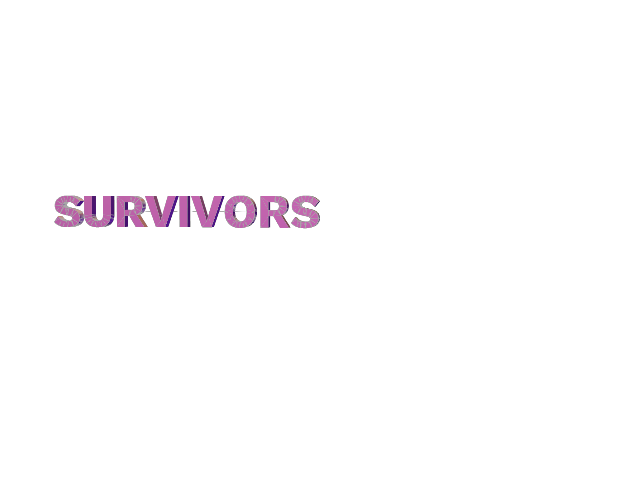 SURVIVORS - 3D design by Stephanie Salcedo May 9, 2018