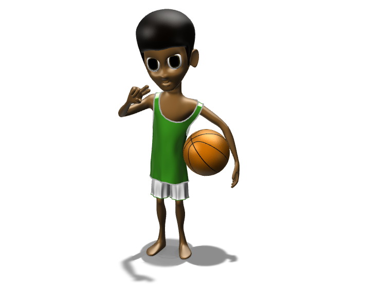 Rajon Rondo - 3D design by dmunozramirez2006 Jan 30, 2018