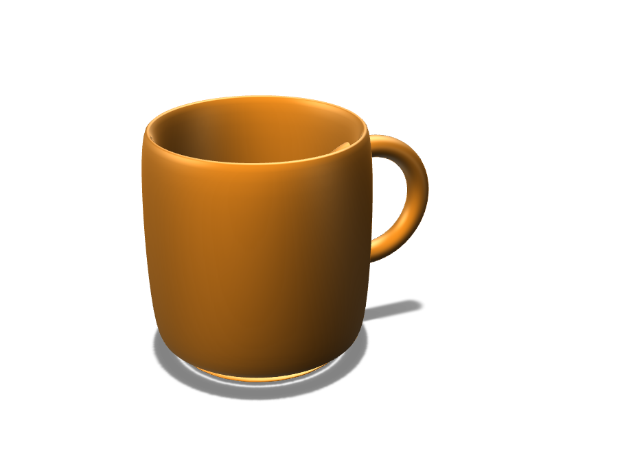 Smooth Cup with Handle - 3D design by dressler.joel Oct 5, 2017