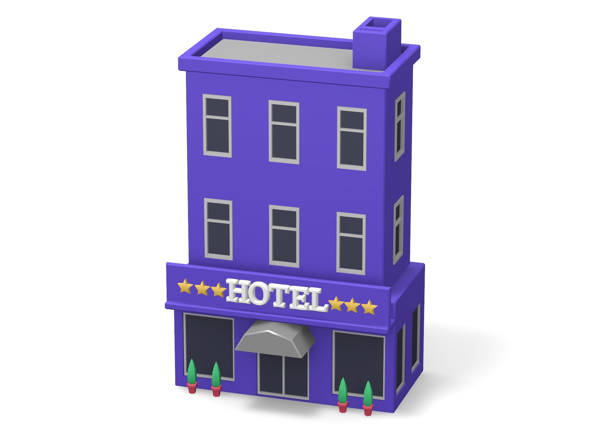 Two-floor hotel - 3D design by Vectary assets Aug 20, 2018