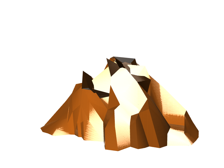 Xiie Volcano - 3D design by herrei2 Jan 9, 2018