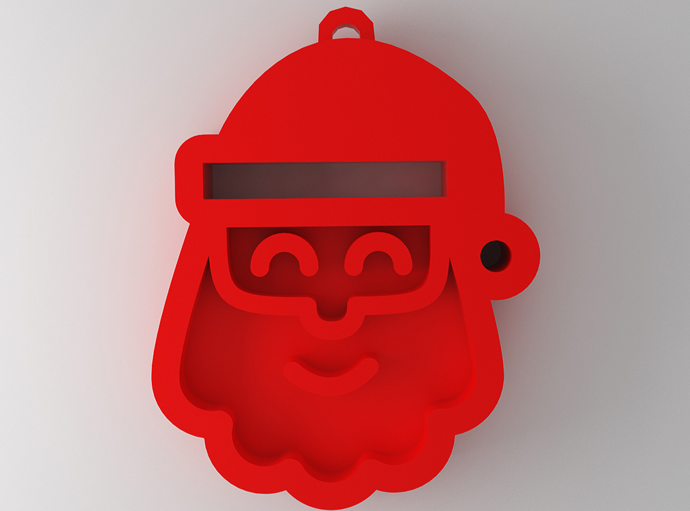 Santa Claus bauble - 3D design by michaelseverian Dec 14, 2017