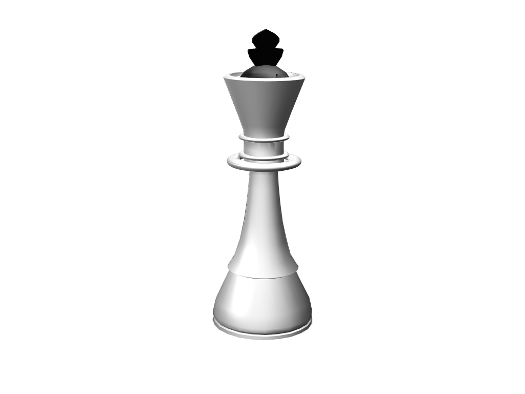 checkers - queen - 3D design by pineapple_elza Apr 11, 2018