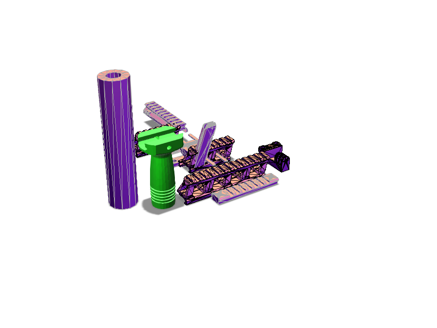 airsoft front grip - 3D design by griffsea000 Dec 13, 2017