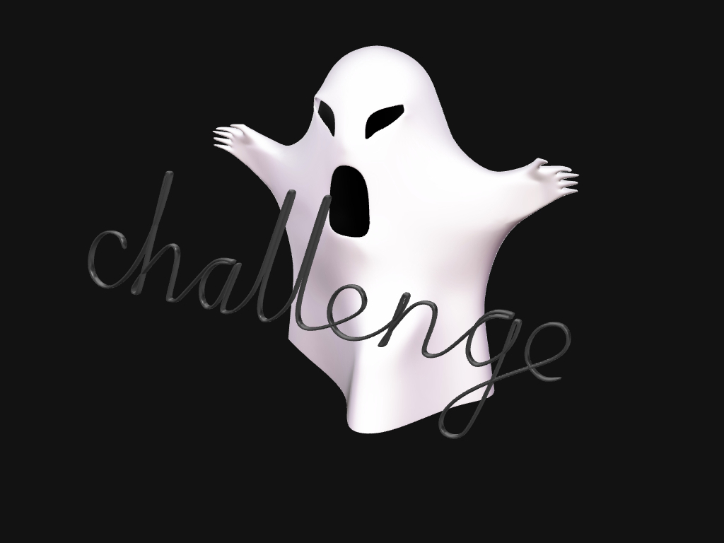 CHALLENGE: ghost - 3D design by George_Solo Oct 25, 2016