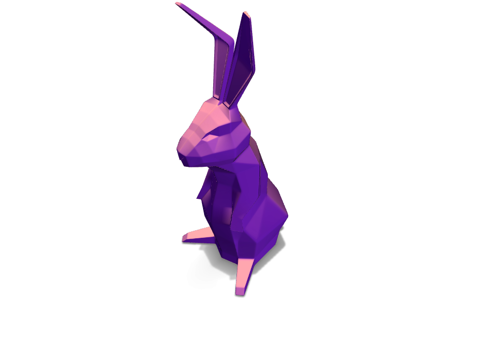 Low Poly Bunny - 3D design by Fernando I. Prado on Apr 16, 2018