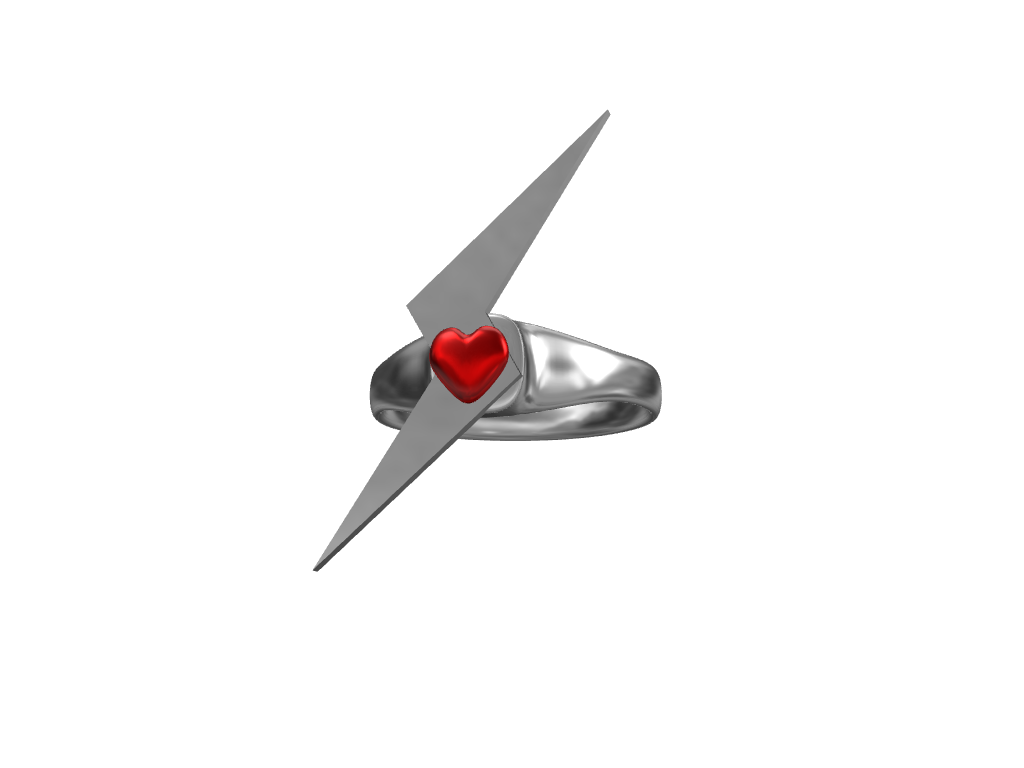 Electro heart ring - 3D design by Kristian Feb 13, 2017