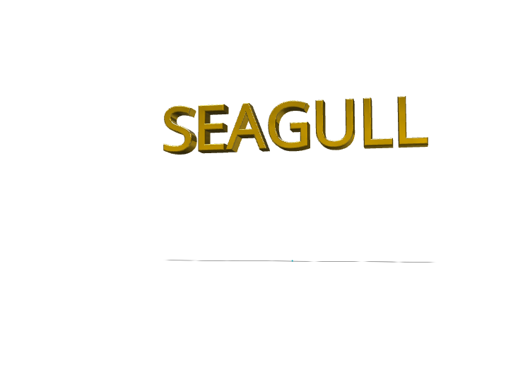 SEAGULL NAMEPLATE - 3D design by samedpotts on Jun 5, 2018