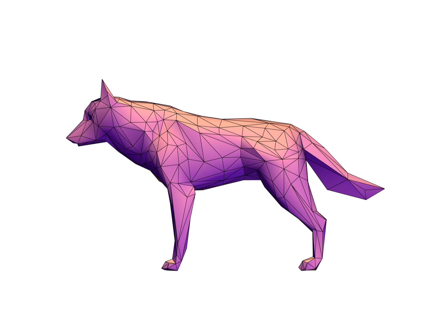 Low Poly Wolf - 3D design by xkandakex on Jan 25, 2018