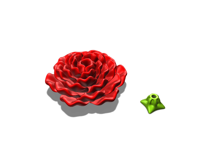 test rose 3 - 3D design by Lois Sanders Feb 24, 2018