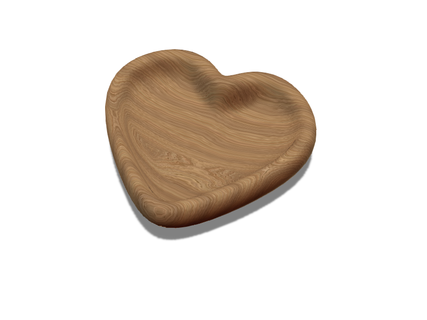 Heart Bowl - 3D design by ccarver-longley on Mar 1, 2018