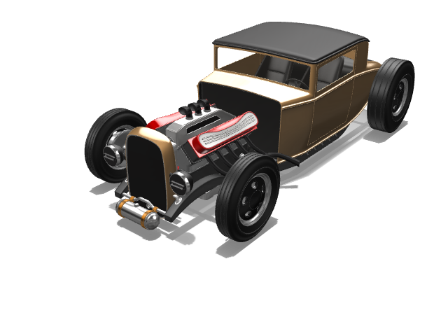 HOT ROD - 3D design by mdp1701 Mar 6, 2017