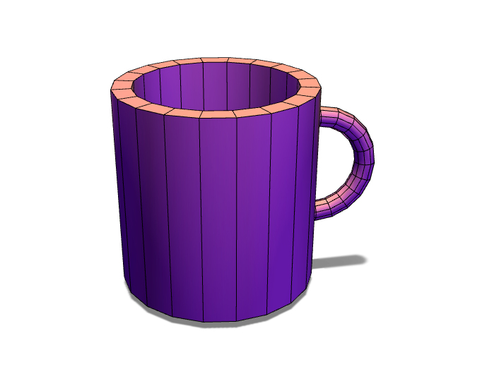 Cup with Handle - 3D design by mirandapatterson Oct 5, 2017
