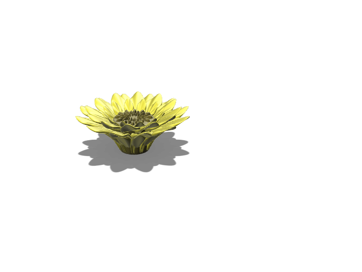 sunflower test1 - 3D design by Lois Sanders Feb 25, 2018