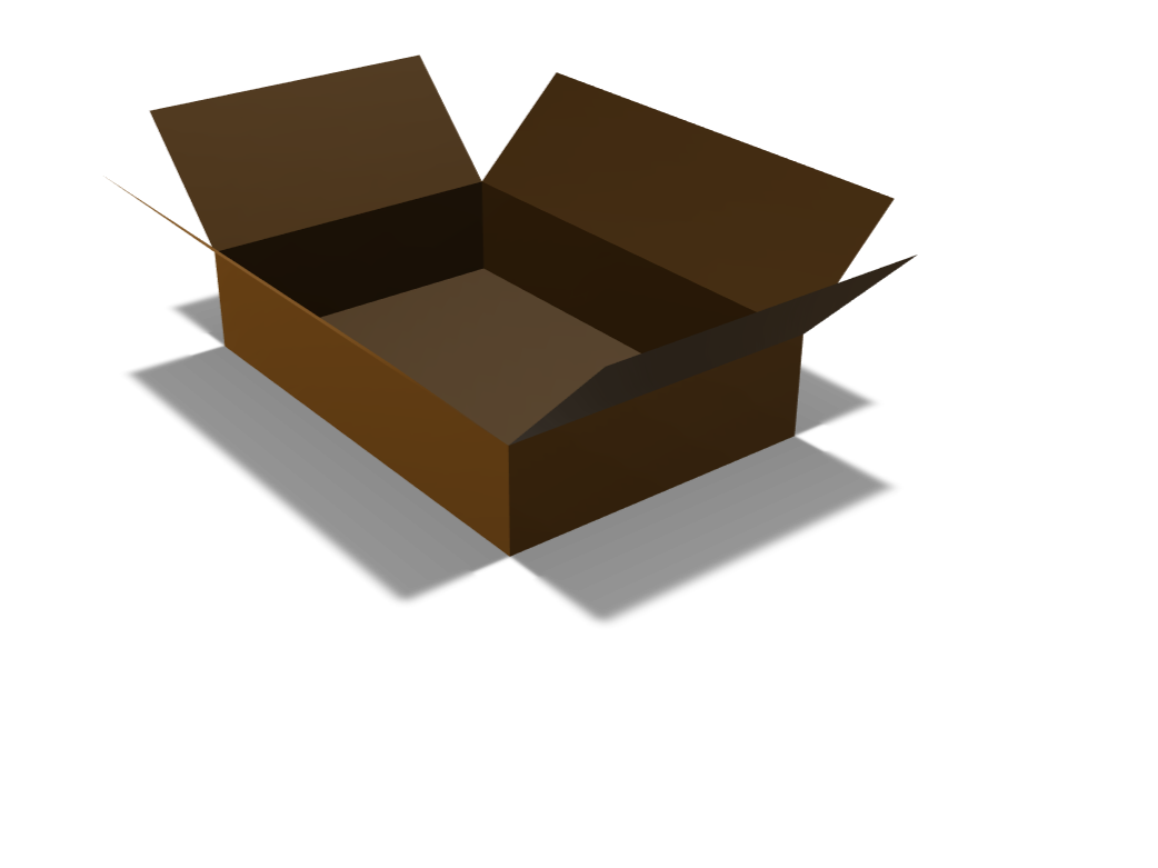 CARDBOARD BOX - 3D design by jonny.5gorobots on Feb 15, 2018