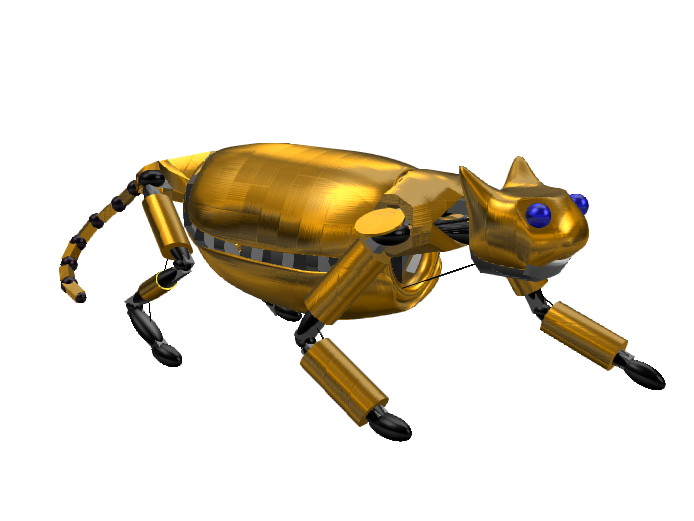 (Fixed) Robot Cat - 3D design by Mr_John on Mar 20, 2018