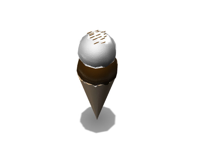Chocolate and Vanilla ice cream  - 3D design by Dylan Manion on Oct 13, 2017