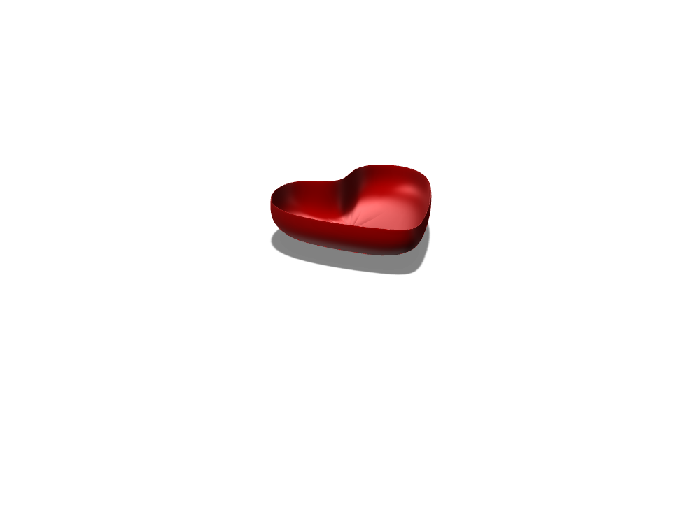 Heart Bowl - 3D design by Rafael Villalobos Mar 30, 2018