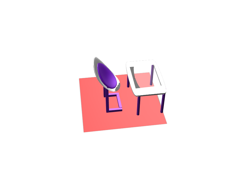 chair and table - estefi - 3D design by Estefania Pineda Nov 10, 2017