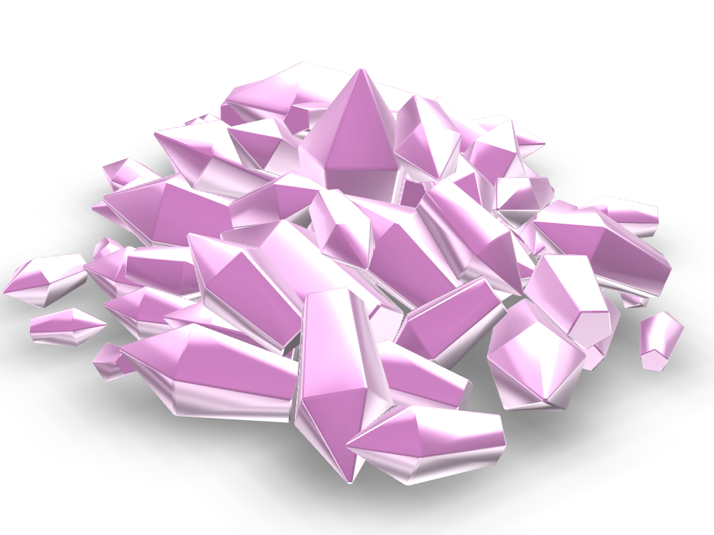 Diamonds  - 3D design by Cookie Dough on Sep 23, 2017