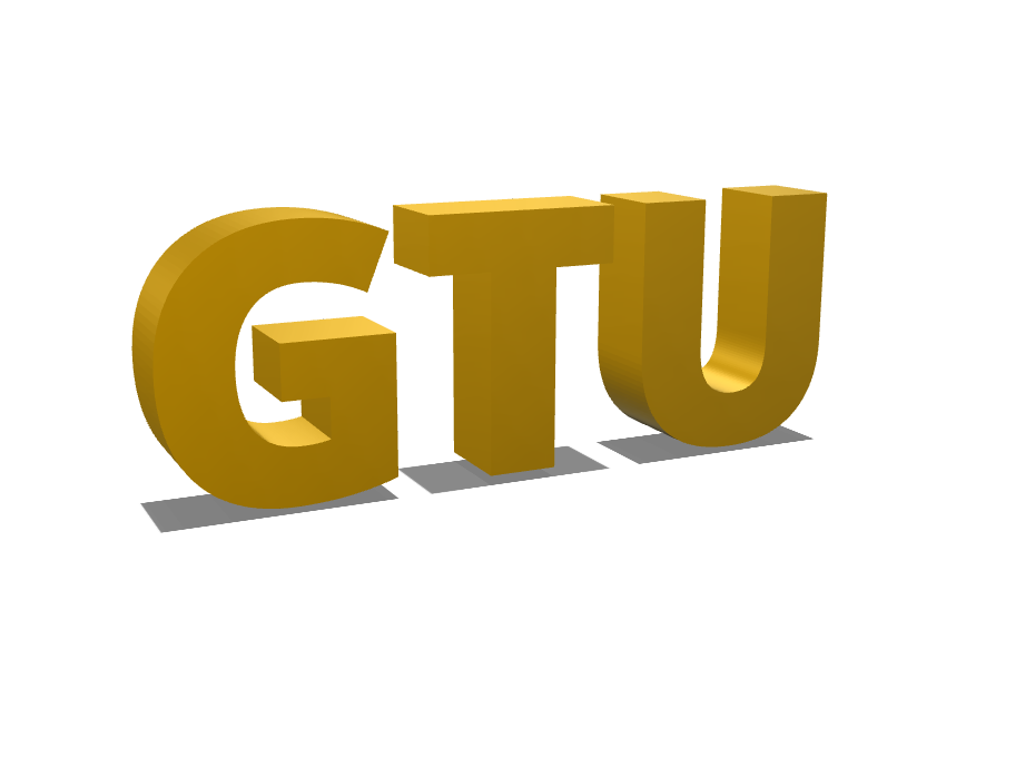 GTU - 3D design by Noureddine KHELIFA May 12, 2018