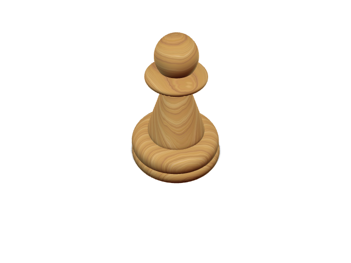 Chess Piece: Pawn - 3D design by Cole Latham Apr 17, 2018