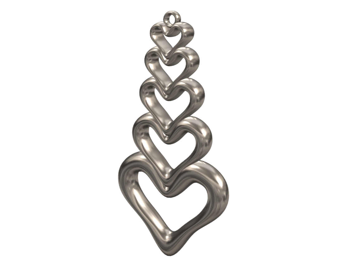 Valentine's Heart Pendant - 3D design by lewmanuel Feb 7, 2018