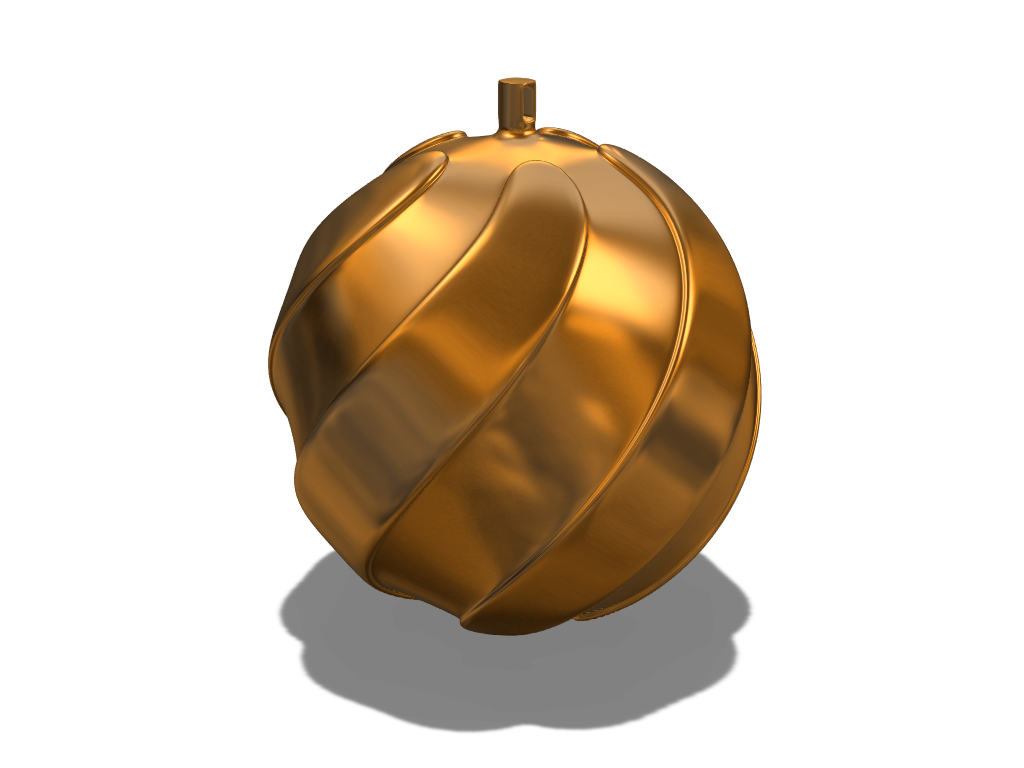 Twirly bauble - 3D design by liwolisu Dec 20, 2017