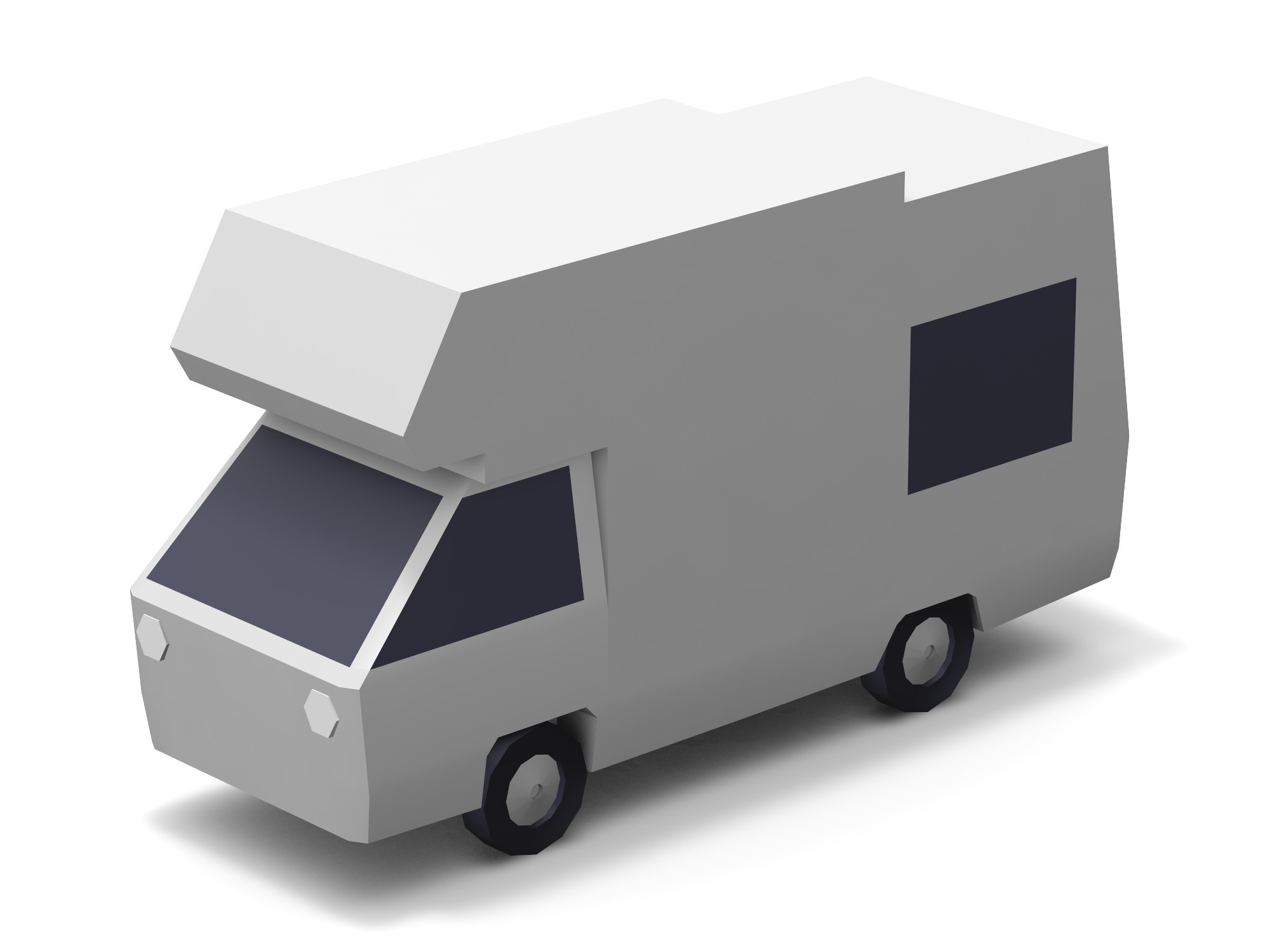 Car - caravan - 3D design by Vectary assets Aug 17, 2018
