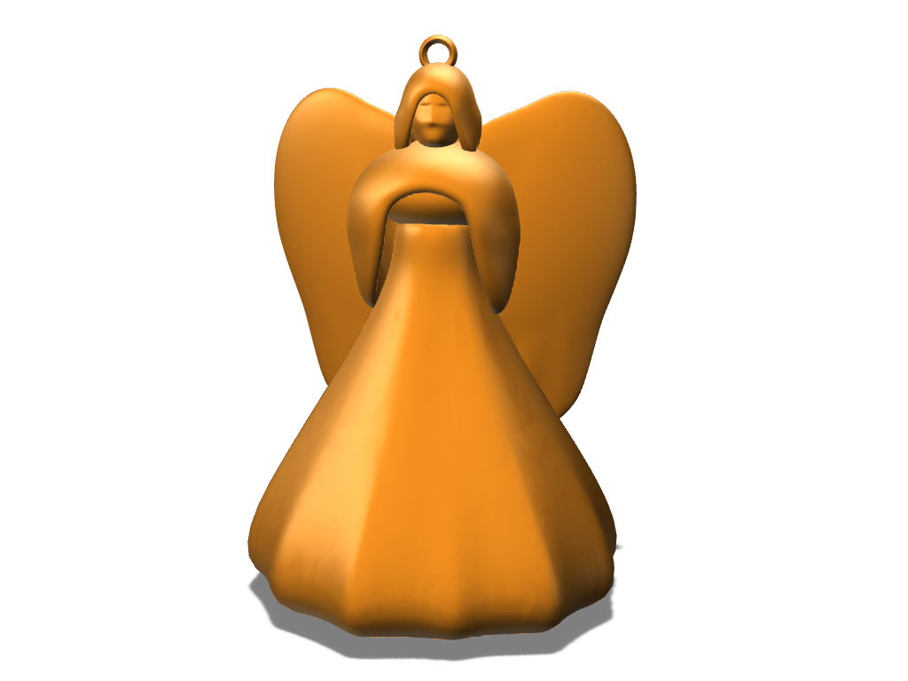 Angel Ornament - 3D design by Dan O on Nov 29, 2017
