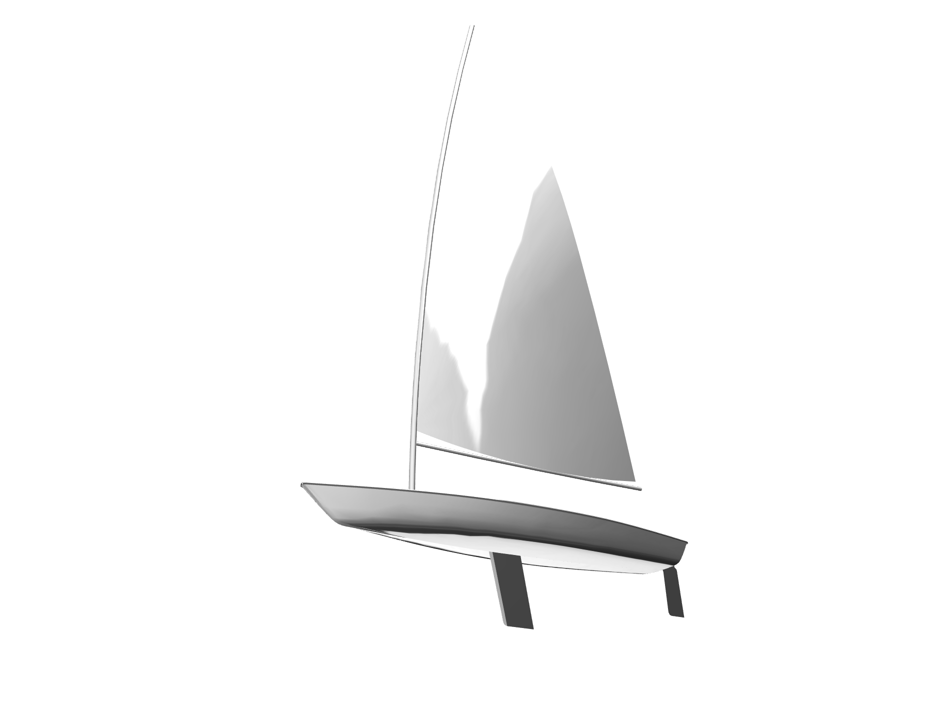 Laser Sailboat - 3D design by Kyle Billings Nov 6, 2017
