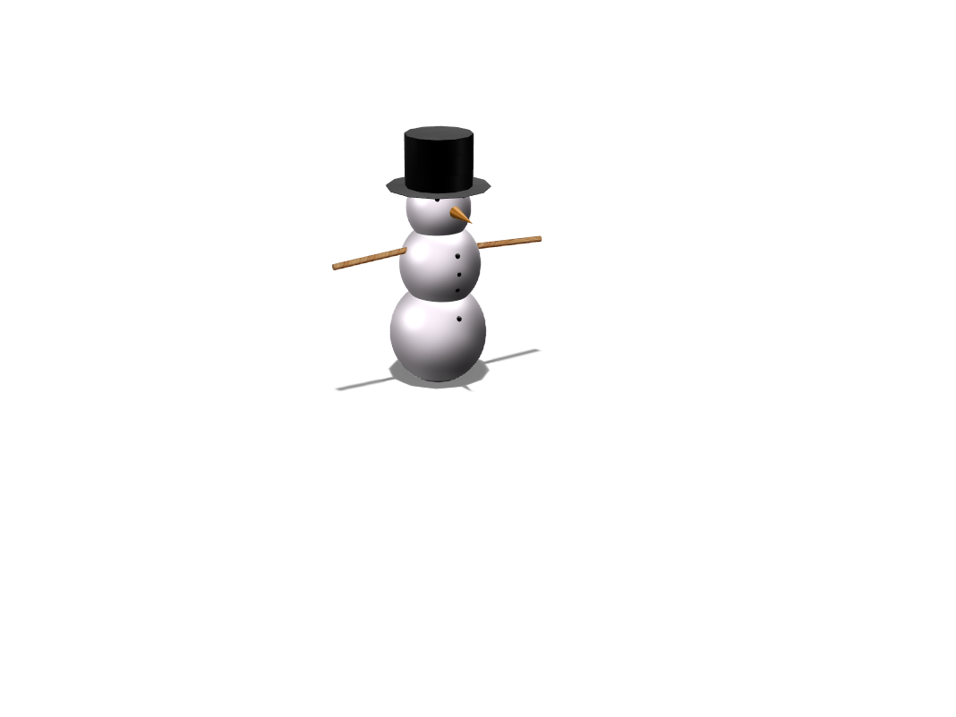 Snowman - 3D design by 20ryani on Jan 17, 2018