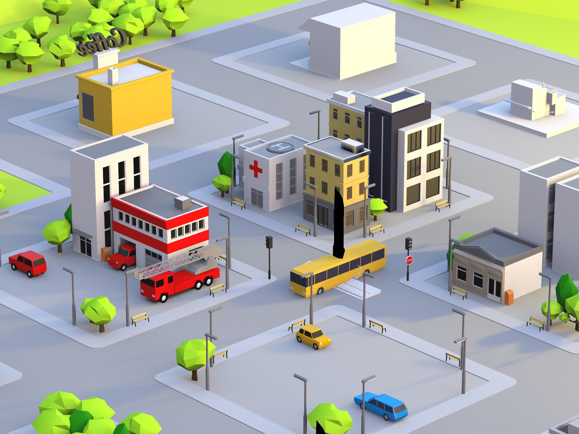 Build a city - drag and drop objects (copy) - 3D design by