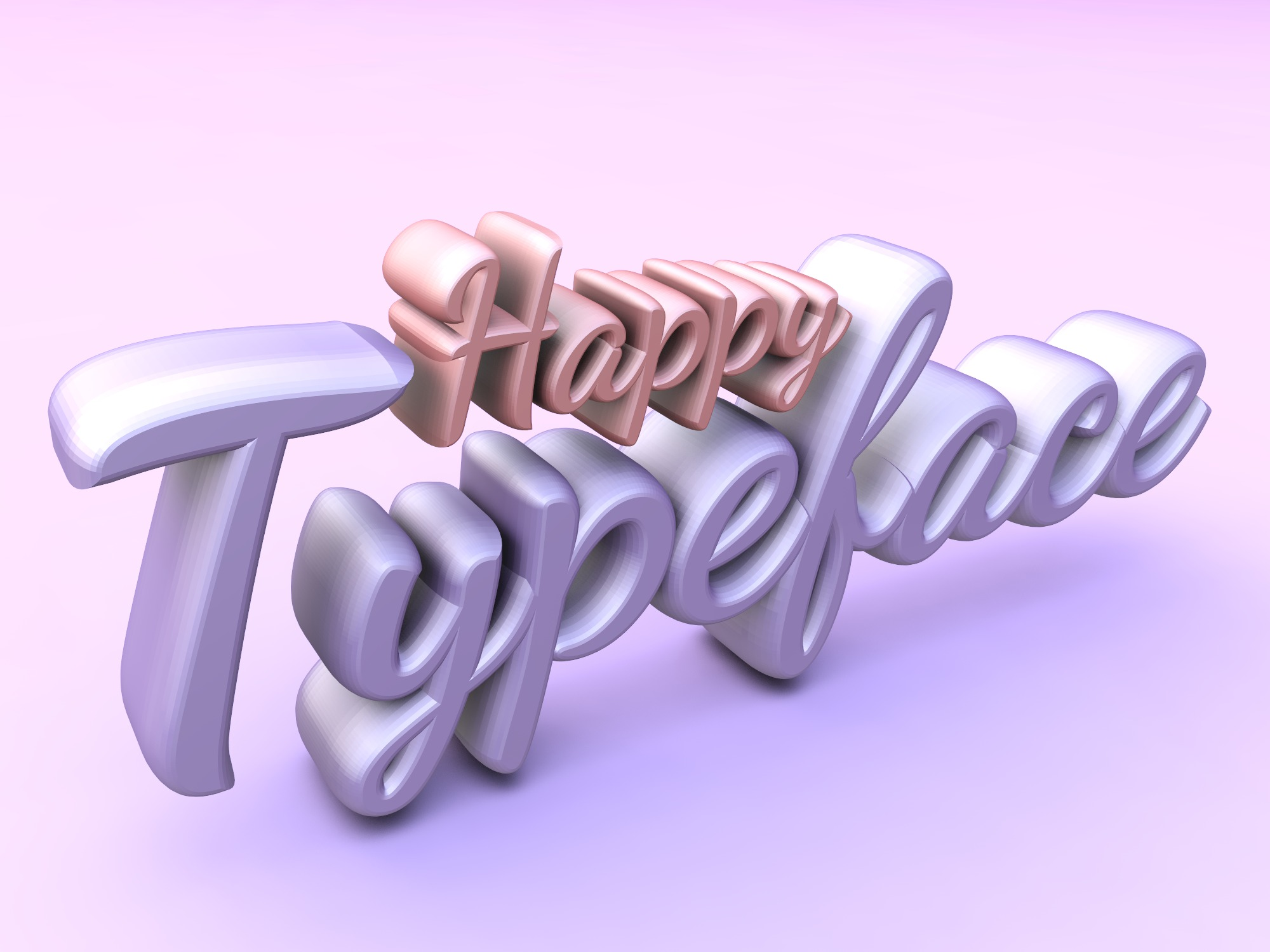 Happy Typeface - 3D design by drafts Jun 23, 2018