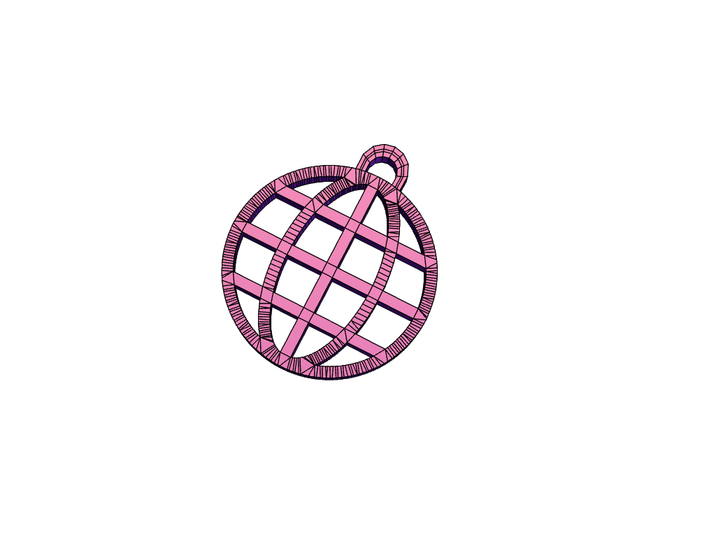 Globe Key Ring - 3D design by Phil Smith Oct 13, 2017