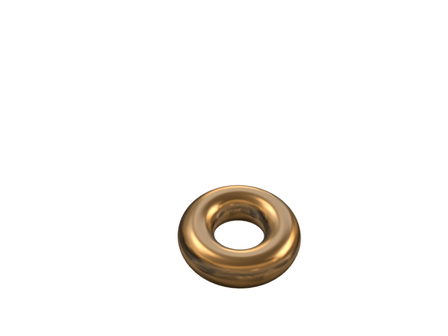 gold donut - 3D design by kmkelly5 on Apr 12, 2018
