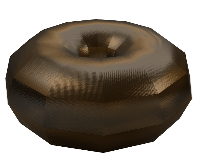 glazed chocolate donut - 3D design by kiera.nosal.2024 Dec 15, 2017