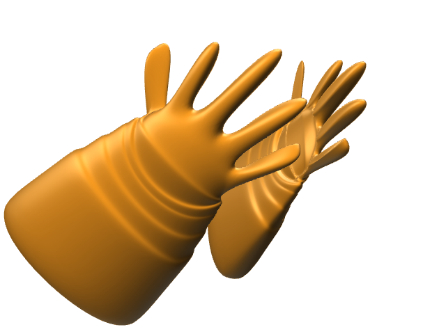 RUBBER GLOVES - 3D design by radovan.peknik Feb 22, 2017