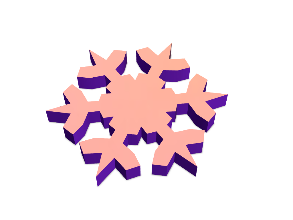 Snowflake using Snowflake generator - 3D design by VECTARY Nov 22, 2017