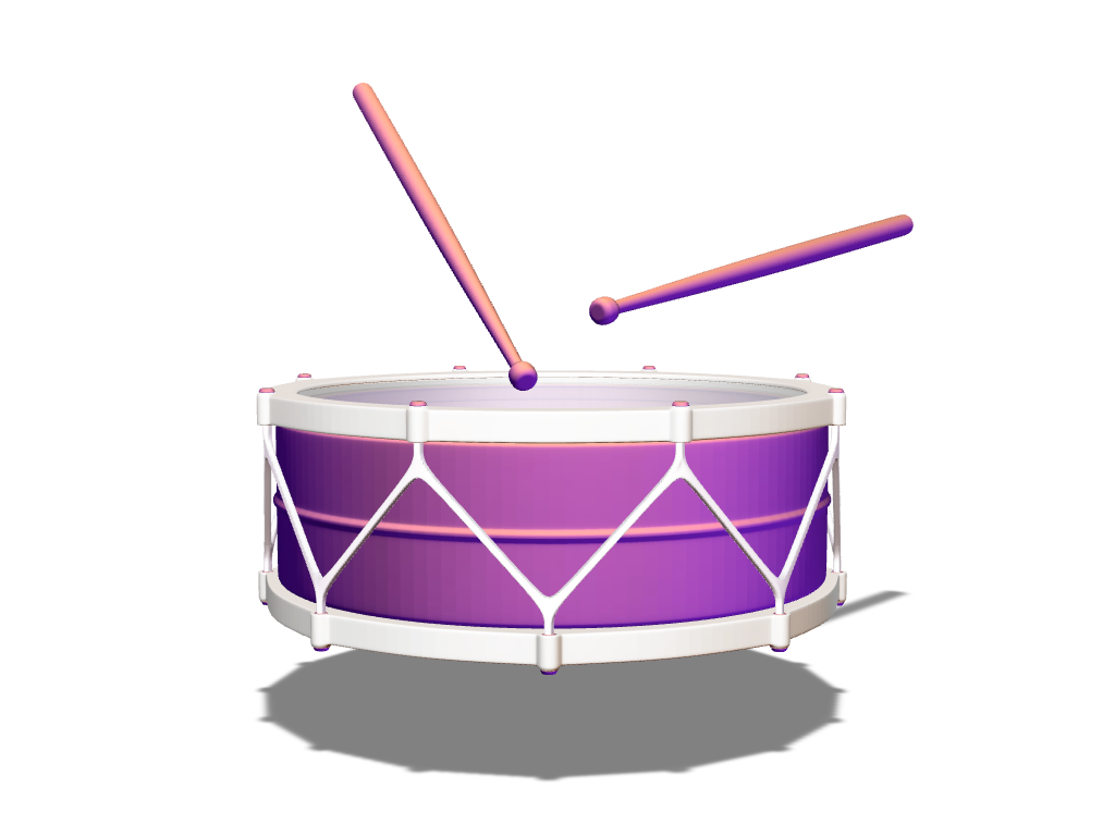 Mini Drum - 3D design by Johnnyal Dec 5, 2016