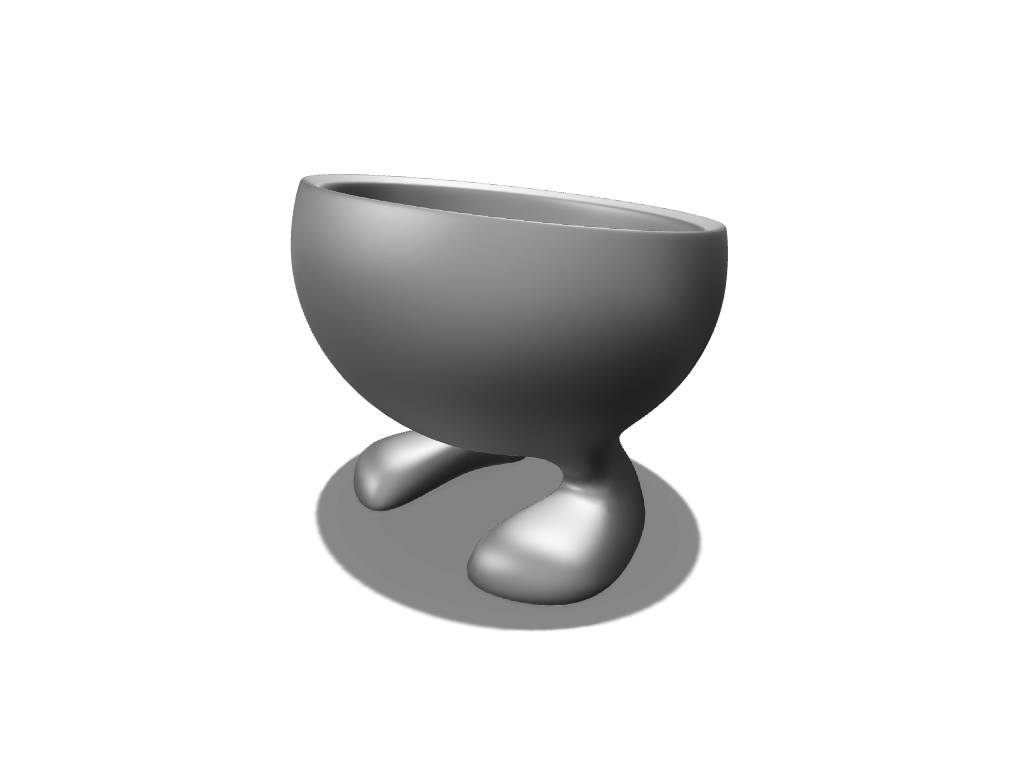 Flowerpot with feet - 3D design by meshtush Jul 29, 2016