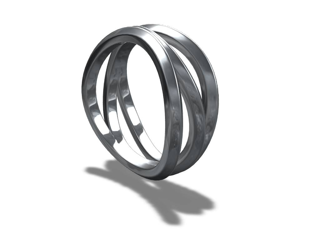 Wave ring - 3D design by VECTARY Apr 19, 2017