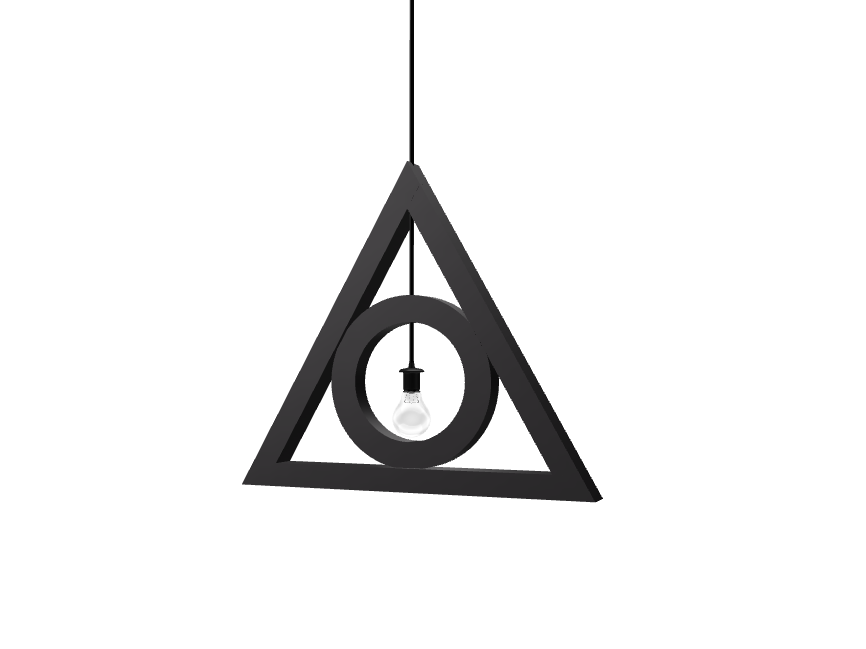 deathly hallows lamp - 3D design by Mirka Biel on Sep 3, 2016