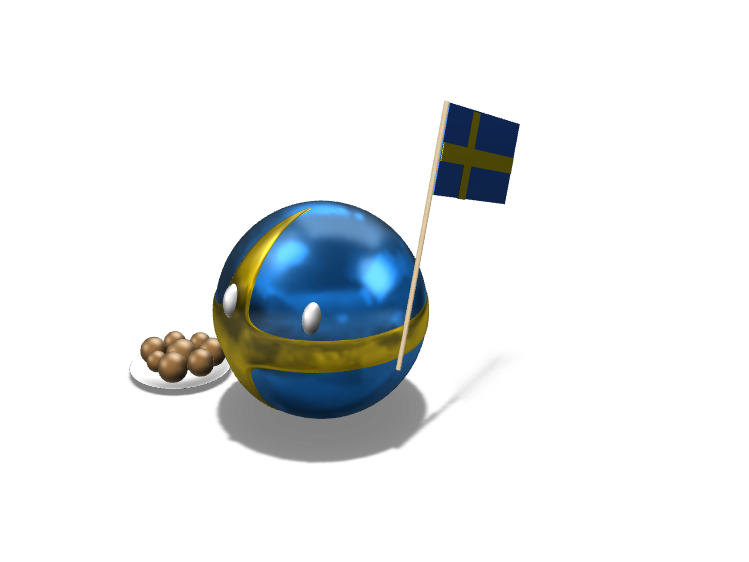 Swedenball - 3D design by Lars_Varjøtie Oct 15, 2017