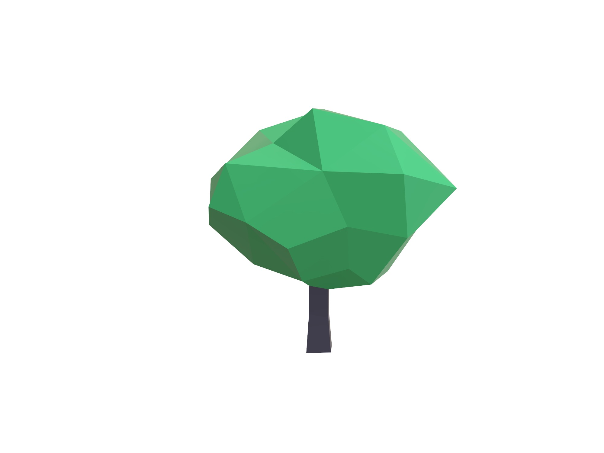 Low poly tree - 3D design by Vectary assets Jun 3, 2018