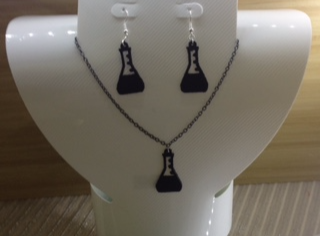 Erlenmeyer flask necklace or earrings - 3D design by kat.hamill22 Sep 2, 2017