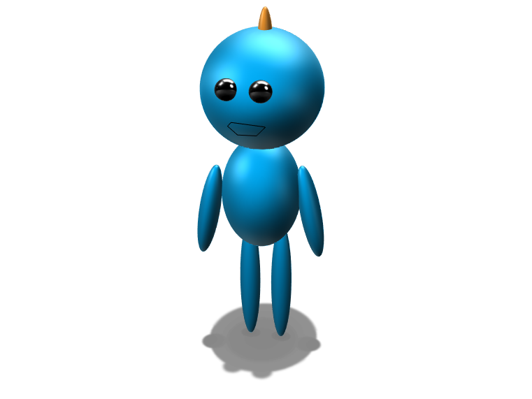 mr meeseeks 1 - 3D design by raiiider817 on Jan 13, 2018