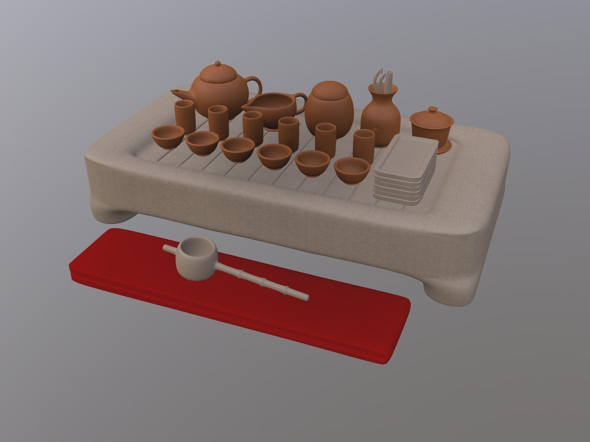 Chinese Tea Set (copy) - 3D design by Rei.T Oct 13, 2018